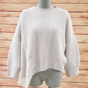 Stella McCartney Sweater Lace-Trim Ribbed Knit